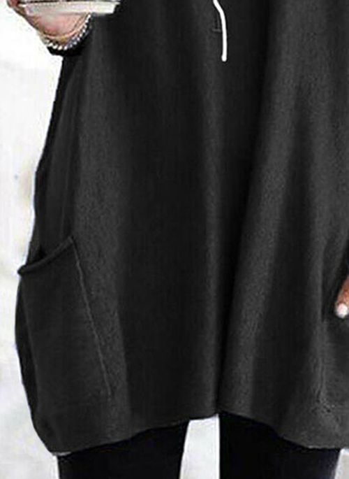 Alphabet Casual Round Neckline Long Sleeve Blouses