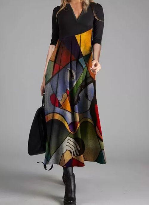 Casual Character Pencil V-Neckline Sheath Dress
