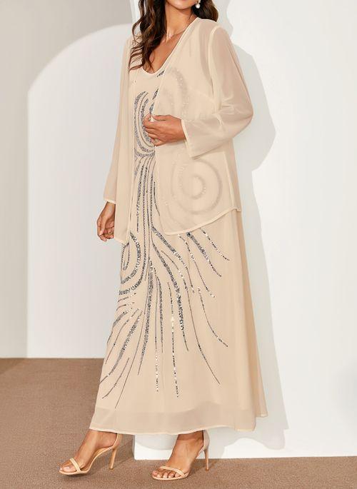 Elegant V-Neckline Dress